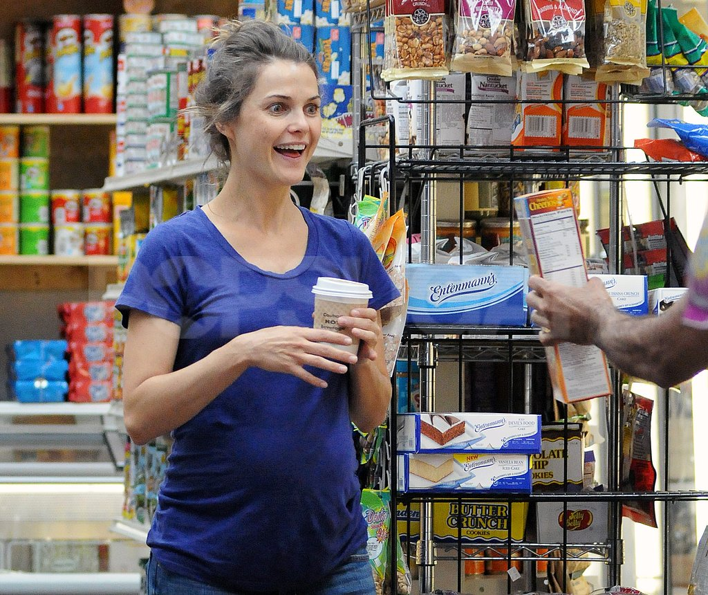 Keri Russell was delighted to get help grocery shopping.