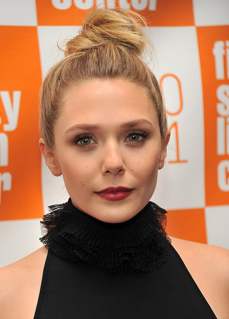 Elizabeth Olsen's dress showed off her shoulders.