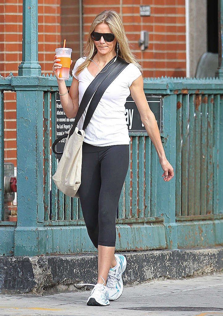 Cameron Diaz walked around in sneakers.
