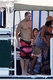 Channing Tatum took a dip on set.