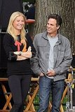 Gwyneth Paltrow and Mark Ruffalo had fun on set in NYC.