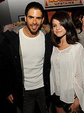 Selena Gomez and Eli Roth posed together at the premiere of The Thing in LA.