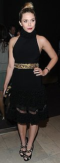 Elizabeth Olsen in Black Alexander McQueen Dress