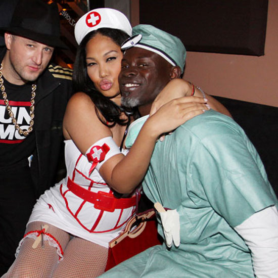 Kimora Lee Simmons and Djimon Hounsou coordinated their costumes as a sexy nurse and doctor, respectively, at a 2009 bash.