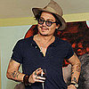 Johnny Depp at Art Party With Mr Brainwash in LA