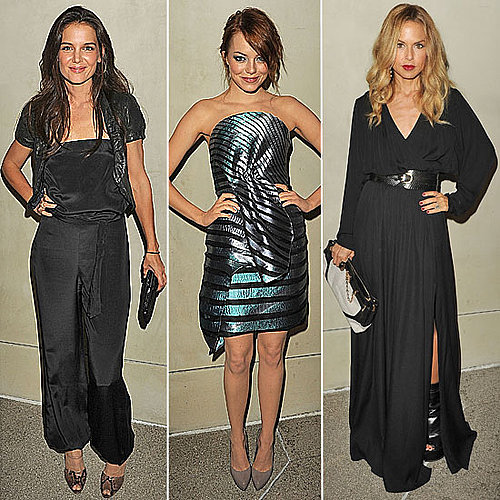 Emma Stone and Rachel Zoe at Vanity Fair/ Armani Dinner October 11, 2011