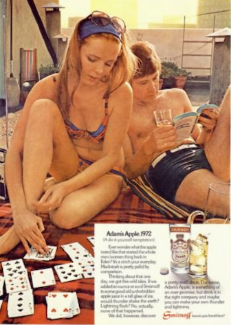 This model looks a little young to be in this ad, featured in a Playboy issue from the '70s.