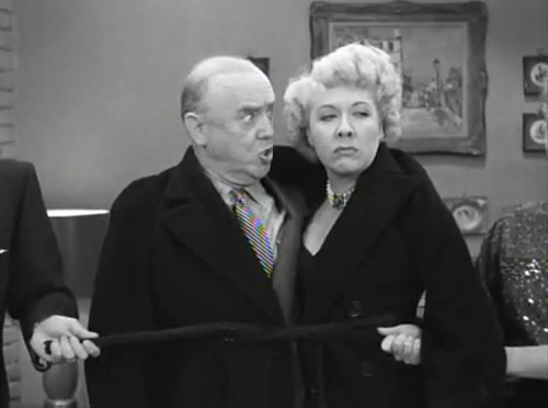 "Fred: ""She said my mother looks like a weasel."" Lucy: ""Ethel, apologize."" Ethel: ""I'm sorry your mother looks like a weasel."""