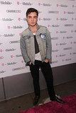 Ed Westwick struck a model pose on the red carpet.