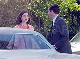 Jon Hamm and Jessica Paré on the set of Mad Men in LA.