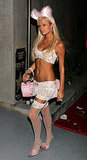 Paris Hilton wore little more than lingerie in 2005 as she stopped by Haylie Duff's Halloween party.