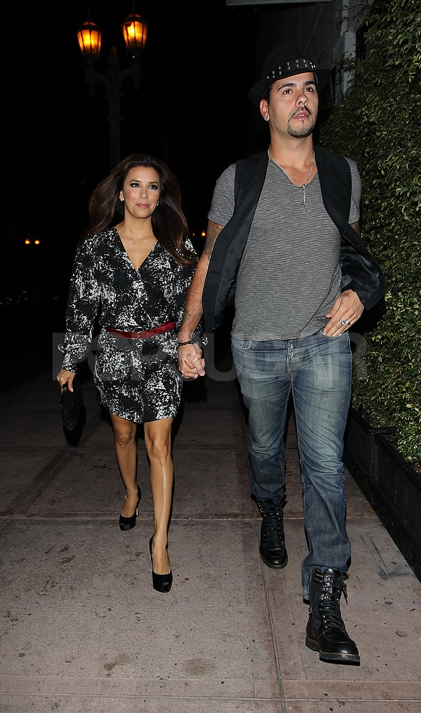 Eva Longoria and Eduardo Cruz held hands while walking to dinner in LA.