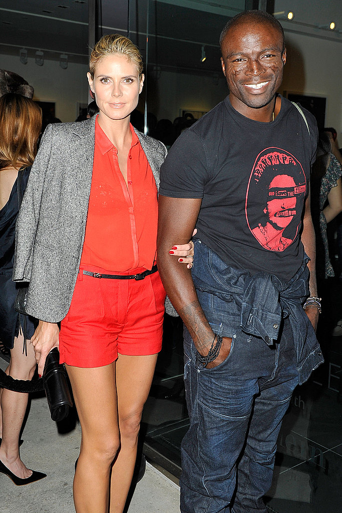 Heidi Klum and Seal left the art opening.