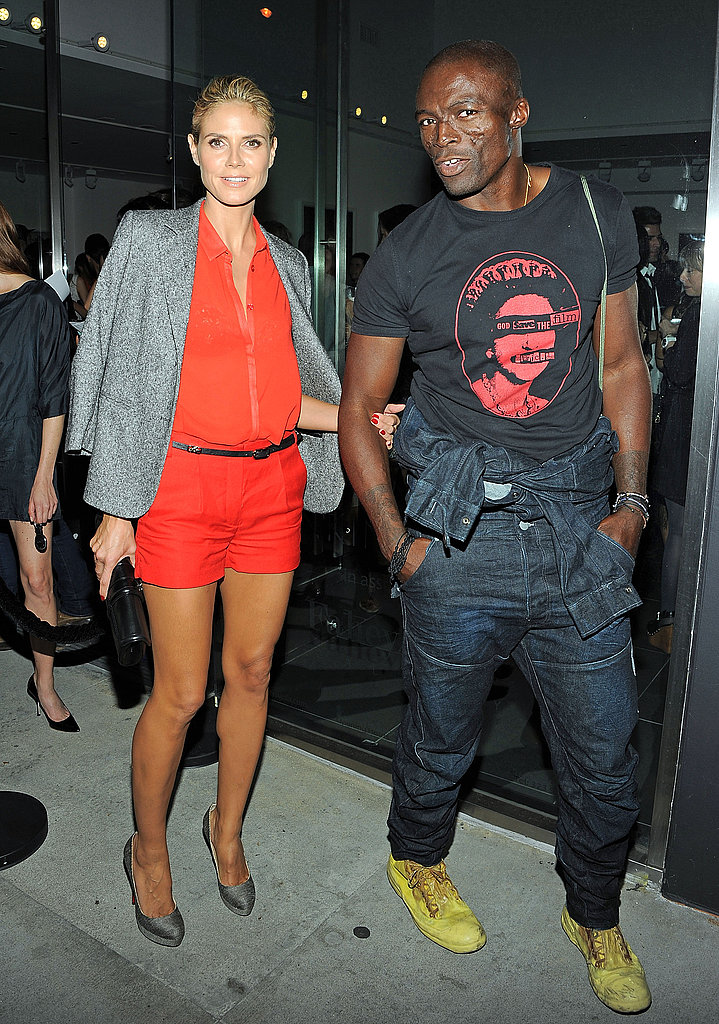 Heidi Klum and Seal showed their apprecation for the artists.