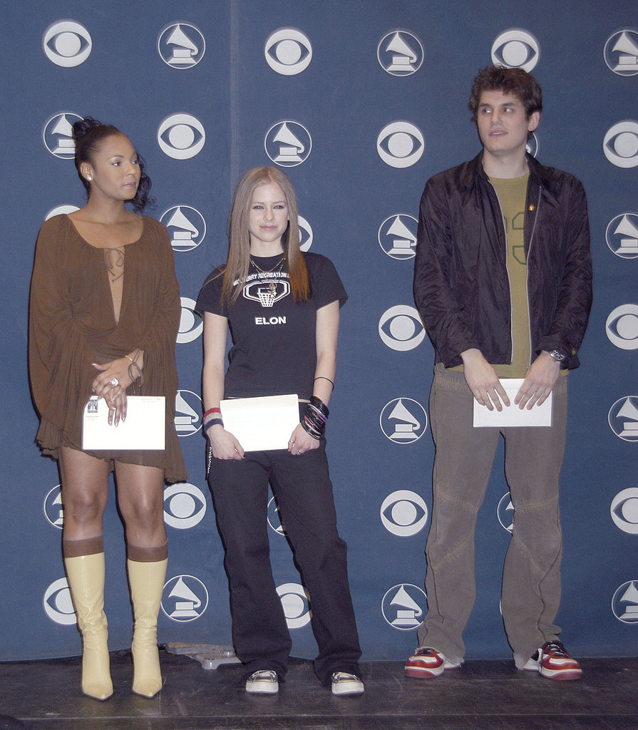 Avril Lavigne and John Mayer were among the nominees recognized at the January 2003 Grammy Award nominations press conference.