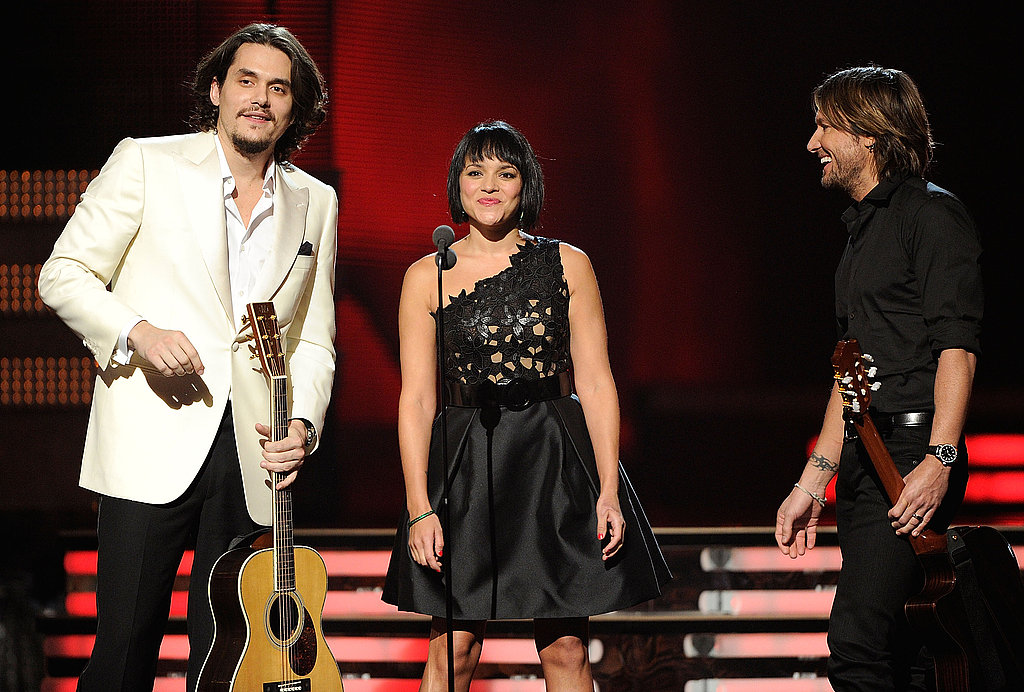 Norah Jones and Keith Urban joined John Mayer during the February 2011 Grammy Awards in LA.