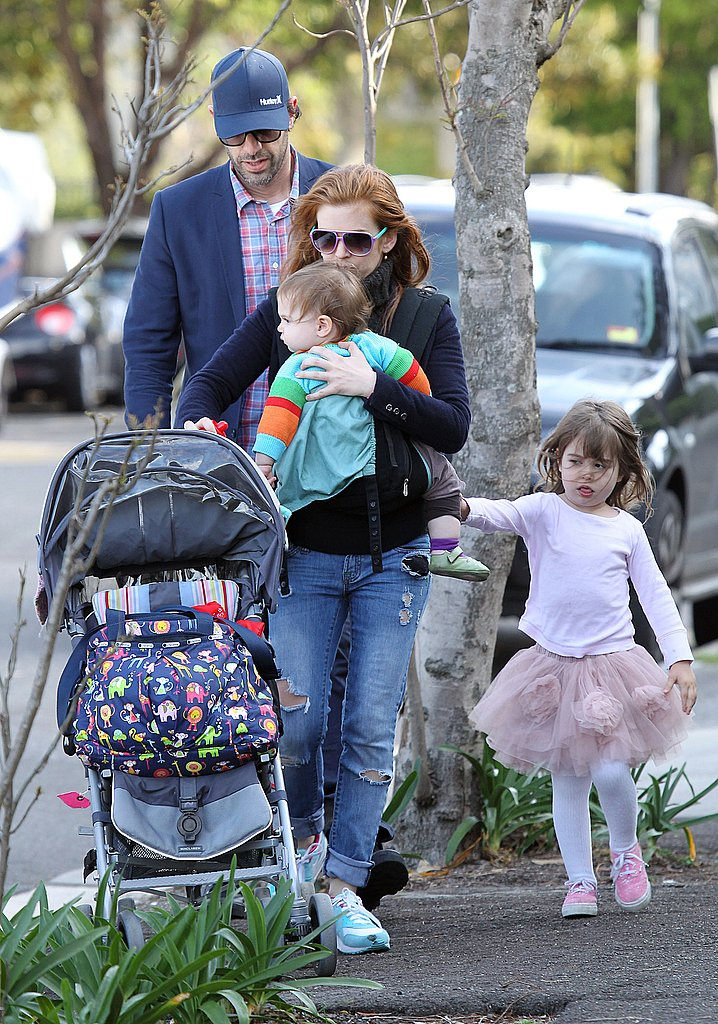 Isla Fisher, Sacha Baron Cohen, Elula Cohen, and Olive Cohen took in the sights of Sydney.