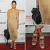 Jamie Chung Carrying Proenza Schouler Bag at Charlize Theron Africa Outreach Project