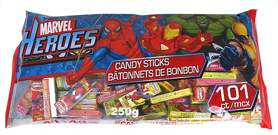 Marvel Hero&#039;s Candy Sticks ($7 for 101)