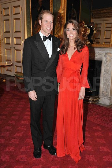 Kate Middleton and Prince William at the Child Bereavement Charity dinner in London.