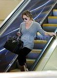 Hilary Duff kept her sunglasses on at LAX.