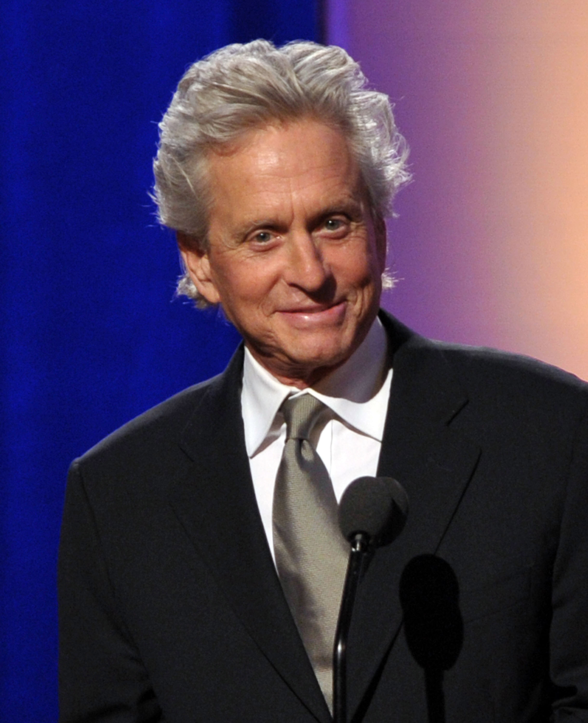 Michael Douglas was happy to attend the function.