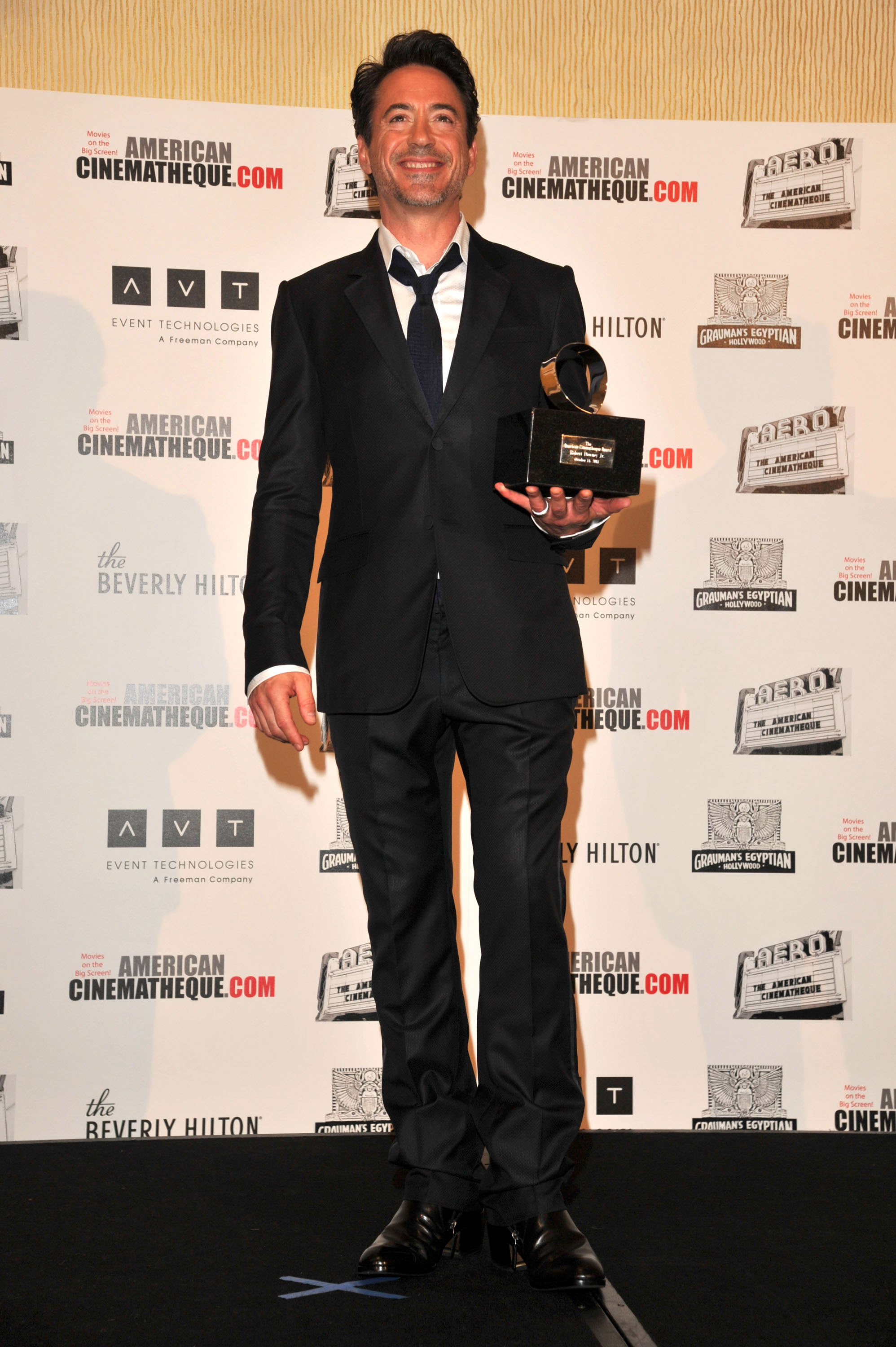 Robert Downey Jr. collected his award.