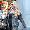 Jessica Simpson in All Black Pictures at LAX