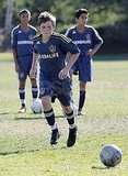 Brooklyn Beckham on the soccer field.