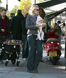 Kate Hudson and Matthew Bellamy walking in London with Bing.