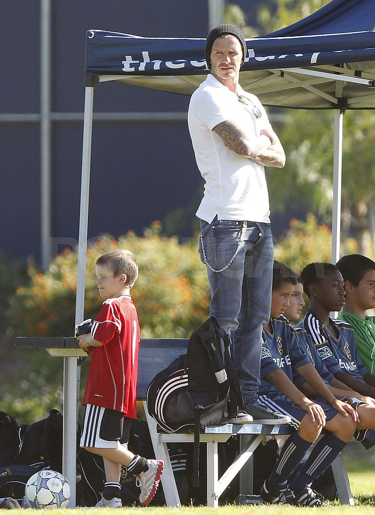 David Beckham and Cruz in LA.
