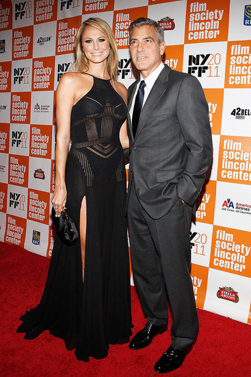 George Clooney and Stacy Keibler Make Their Red Carpet Debut For The Descendants