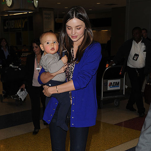 Miranda Kerr Pictures in NYC With Son Flynn Bloom