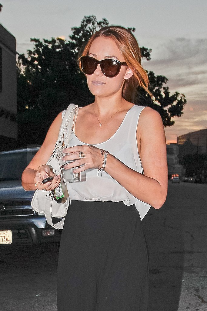 Lauren Conrad walked to her car after getting her nails done.