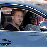 Ryan Gosling and Eva Mendes head out to grab coffees together.