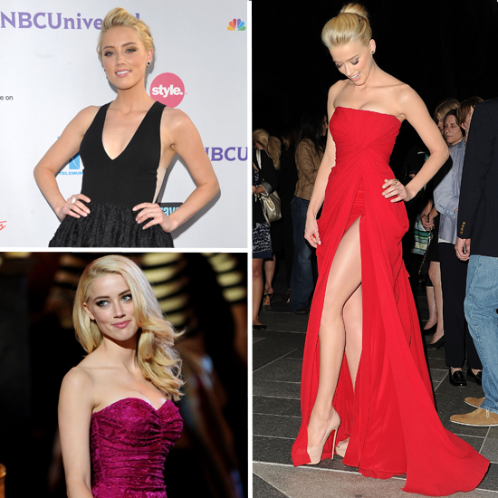 Amber Heard Red Carpet Dresses