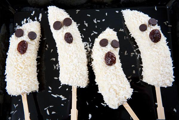 Banana Ghost Pops