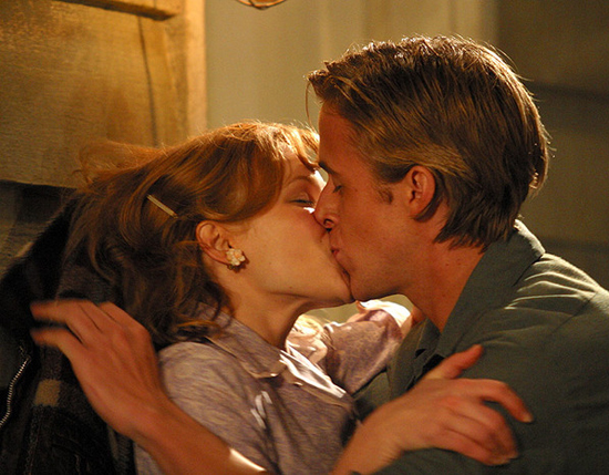 We had to include another sexy smooch from The Notebook — hot!
