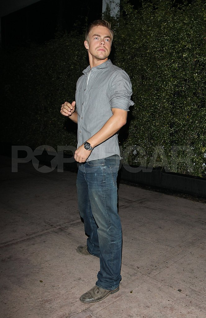 Derek Hough out in LA.