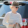 January Jones Houston's Restaurant Pictures
