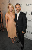 Naomi Watts posed with Francisco Costa at an event for Elle.