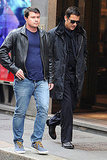 Clive Owen wore sunglasses in Milan.
