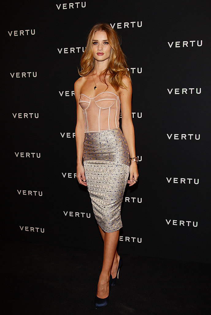 Rosie Huntington-Whiteley made her way into a private event in Milan.
