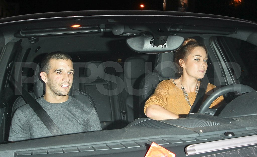 Mark Ballas was in the passenger's seat following a night of dancing at Tru with Lauren Conrad and Derek Hough.