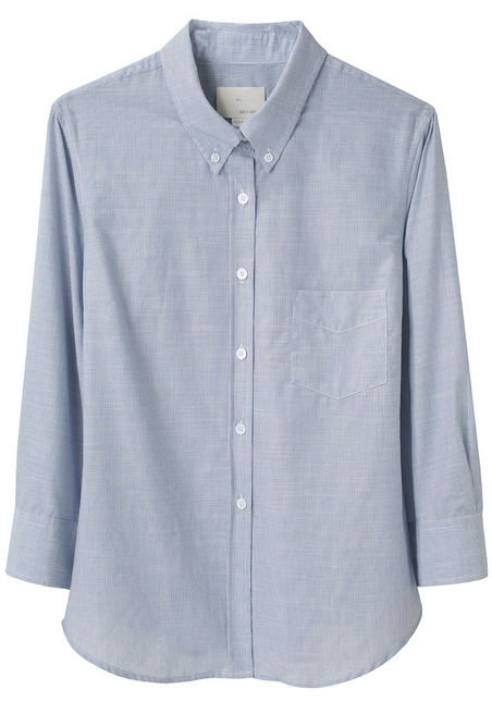 Start with a classic oxford button-down, like this, to set the tone for your tweeds and tassels. Boy by Band of Outsiders Cropped Sleeve Shirt ($300)