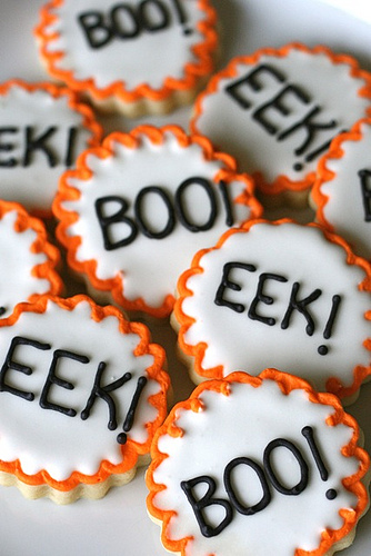 Boo! and Eek! Cookies