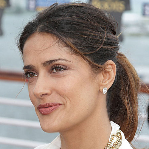 Salma's Stylist Shares the Trick to Keeping a Ponytail in Place