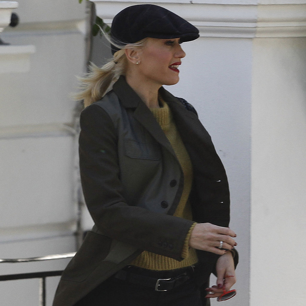 Gwen Stefani left her London home.