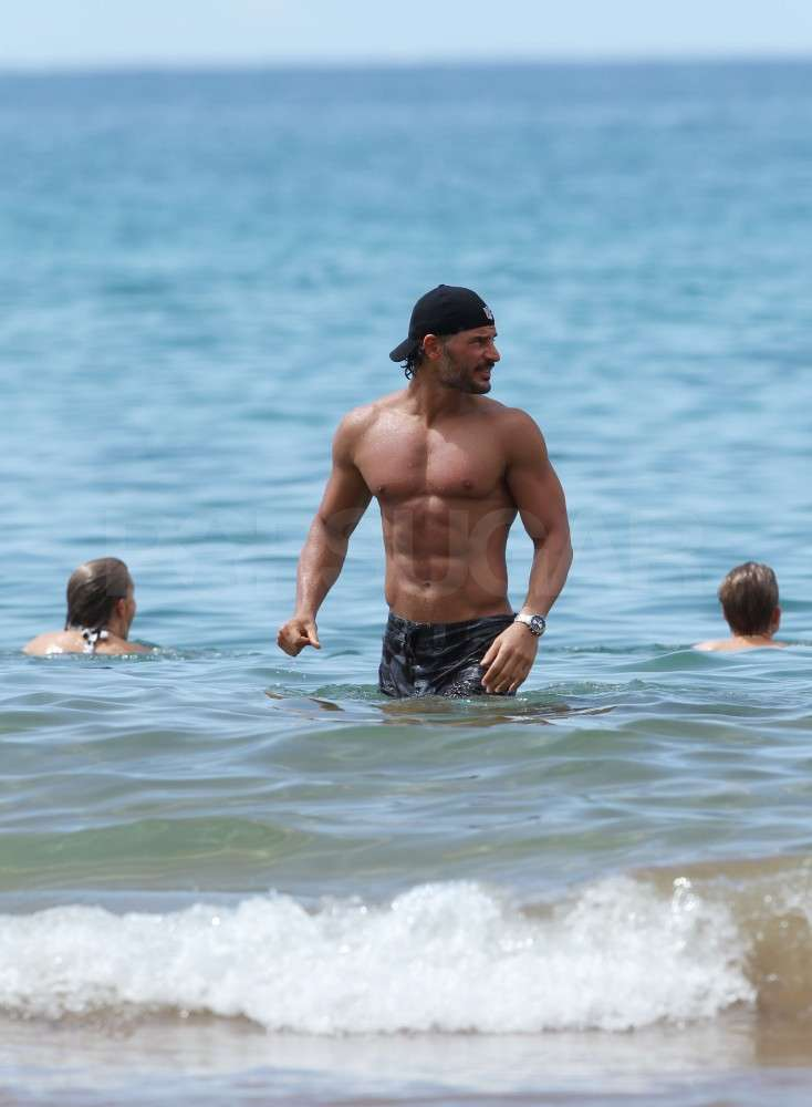 Joe Manganiello hit the water.