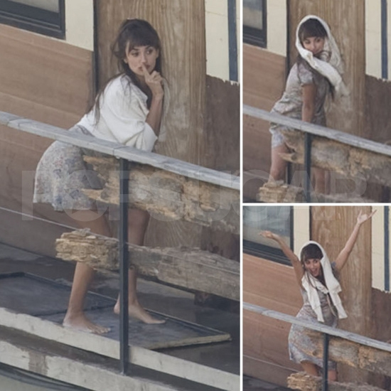 Penelope Cruz Gets Silly, Then Serious on Set!